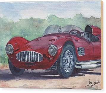 1954 Maserati A6 Gsc Tipo Mm Wood Print