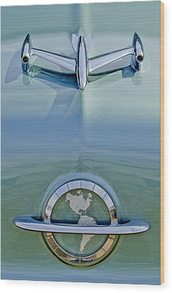 1954 Oldsmobile Super 88 Hood Ornament Wood Print by Jill Reger
