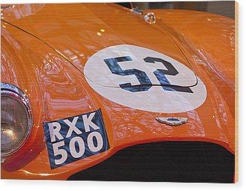 1955 Aston Martin Db3s Sports Racing Car Hood 2 Wood Print by Jill Reger