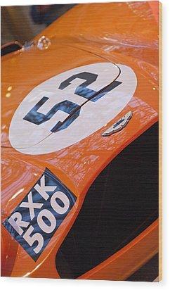 1955 Aston Martin Db3s Sports Racing Car Hood Wood Print by Jill Reger