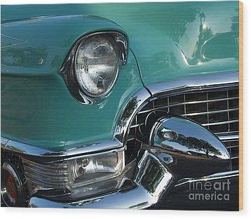 1955 Cadillac Coupe De Ville Closeup Wood Print