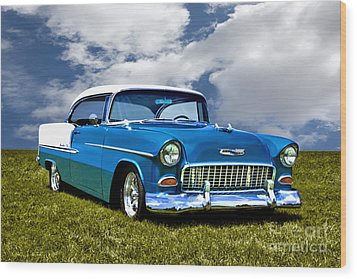 1955 Chevrolet Bel Air Wood Print by Adam Olsen