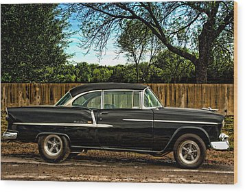 1955 Chevrolet Belair Wood Print by Tim McCullough