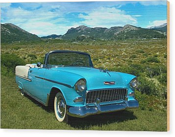 1955 Chevrolet Convertible Wood Print by Tim McCullough