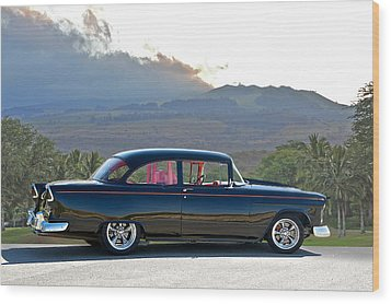 1955 Chevrolet Custom Coupe Wood Print by Dave Koontz