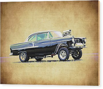 1955 Chevy Gasser Wood Print by Steve McKinzie