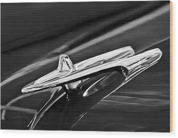 1955 Desoto Hood Ornament 4 Wood Print by Jill Reger