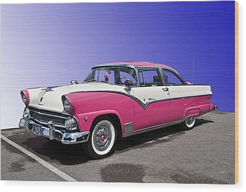 Wood Print featuring the photograph 1955 Ford Crown Victoria by Gianfranco Weiss