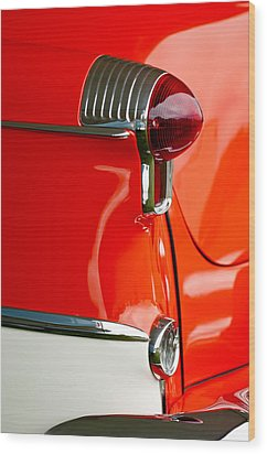 1955 Oldsmobile Taillight Wood Print by Jill Reger