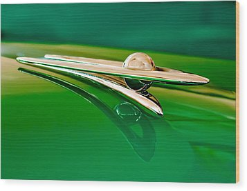1955 Packard Clipper Hood Ornament 3 Wood Print by Jill Reger
