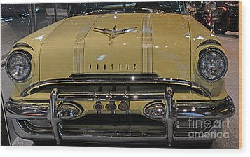 1955 Pontiac Chieftain Front Wood Print by Paul Ward