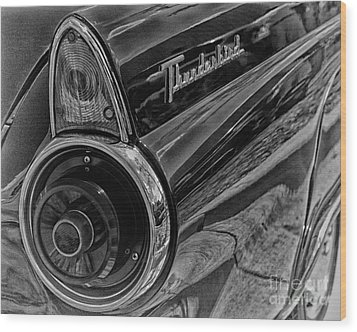 1955 Thunderbird Wood Print by JRP Photography
