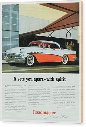 1956 - Buick Roadmaster Convertible - Advertisement - Color Wood Print