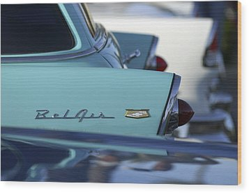 1956 Chevrolet Belair Nomad Rear End Wood Print by Jill Reger