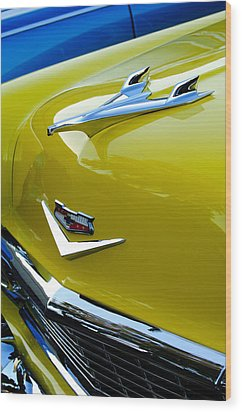 1956 Chevrolet Hood Ornament 3 Wood Print by Jill Reger