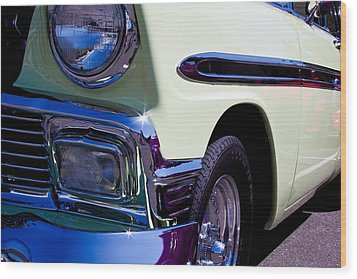 1956 Chevy Bel Air Custom Hot Rod Wood Print by David Patterson