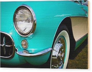 1956 Chevy Corvette Wood Print by David Patterson