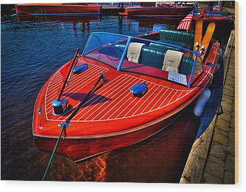 1956 Chris-craft Capri Classic Runabout Wood Print