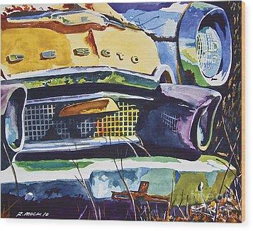 1956 Desoto Abstract Wood Print by Rick Mock