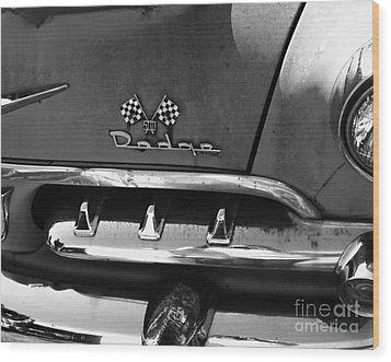 1956 Dodge 500 Series Photo 2 Wood Print by Anna Villarreal Garbis