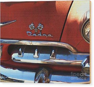 1956 Dodge 500 Series Photo 2b Wood Print by Anna Villarreal Garbis