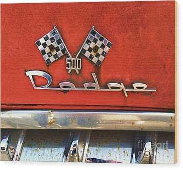 1956 Dodge 500 Series Photo 8b Wood Print by Anna Villarreal Garbis