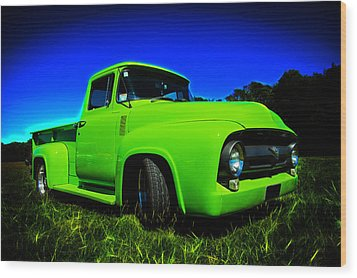 1956 Ford F-100 Pickup Truck Wood Print by motography aka Phil Clark
