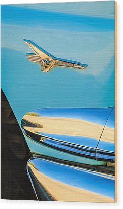 1956 Ford Fairlane Thunderbird Emblem Wood Print by Jill Reger