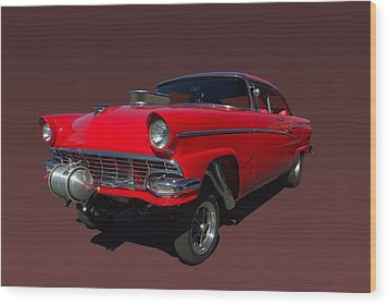 1956 Ford  Pro Street Dragster Wood Print by Tim McCullough
