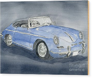 1956 Porche 356b Roadster Wood Print
