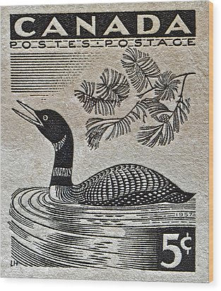 1957 Canada Duck Stamp Wood Print by Bill Owen