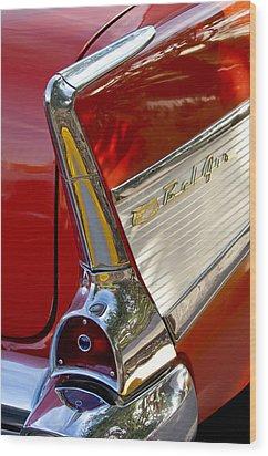 1957 Chevrolet Belair Taillight Wood Print