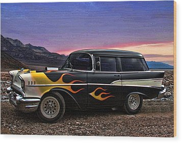1957 Chevrolet Shorty Wagon Wood Print by Tim McCullough