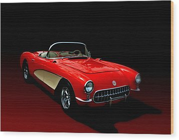 1957 Corvette Wood Print by Tim McCullough