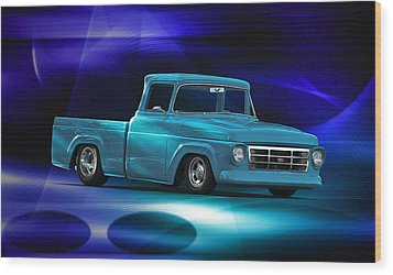 1957 Ford F100 Pick Up Wood Print by Dave Koontz