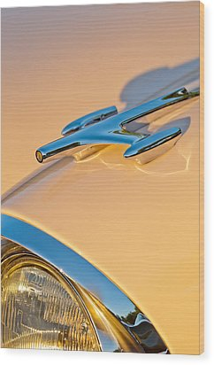1957 Oldsmobile Hood Ornament 6 Wood Print by Jill Reger