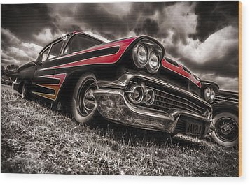 1958 Chev Biscayne Wood Print by motography aka Phil Clark