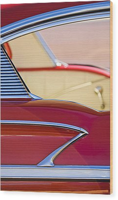 1958 Chevrolet Belair Abstract Wood Print by Jill Reger