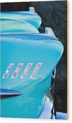 1958 Chevrolet Belair Hood Ornament Wood Print by Jill Reger