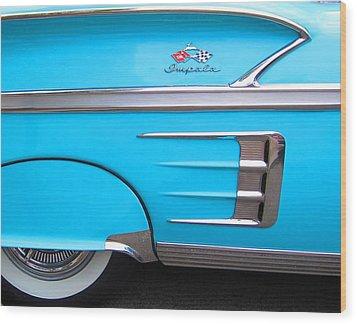 1958 Chevrolet Impala Wood Print by Sven Migot