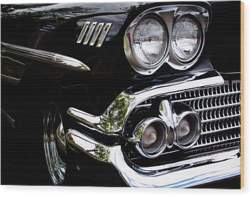 1958 Chevy Bel Air Wood Print by David Patterson