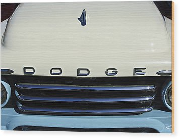 1958 Dodge Sweptside Truck Grille Wood Print by Jill Reger