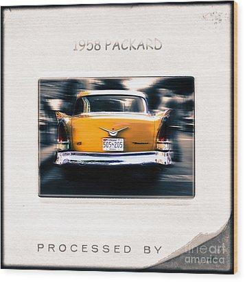 1958 Packard Wood Print by Steven Digman