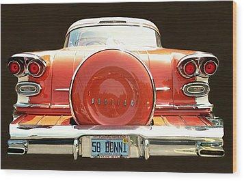 1958 Pontiac Bonneville Wood Print by Diana Angstadt
