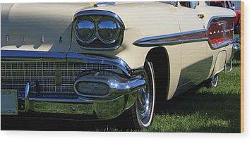 1958 Pontiac Strato Chief Wood Print by Davandra Cribbie