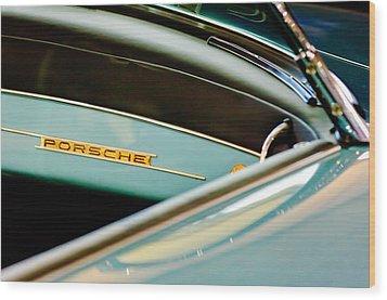 1958 Porsche 356 A Speedster Dash Emblem Wood Print by Jill Reger