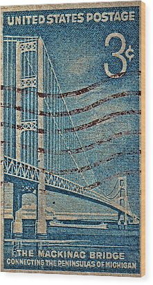 1958 The Mighty Mac Stamp Wood Print by Bill Owen