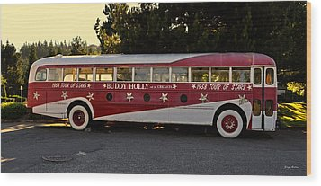 1958 Tour Bus Wood Print by George Bostian