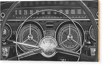 1959 Buick Lasabre Steering Wheel Wood Print