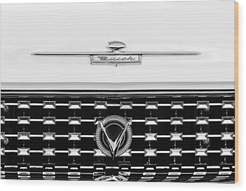 1959 Buick Lesabre Convertible Grille Emblems Wood Print by Jill Reger